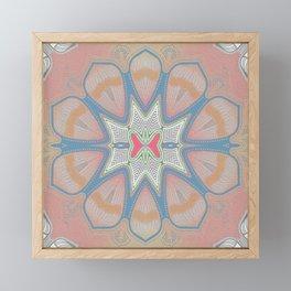 Queen Rose Neo Tribal Boho Floral Pink Peach Framed Mini Art Print