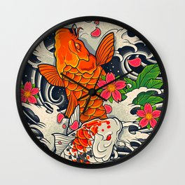 Art of Koi Fish Leggings Wall Clock