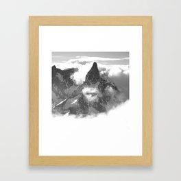 DENT DU GEANT, CHAMONIX Framed Art Print