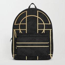 Art Deco Black Marble Backpack