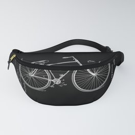 Vintage Bicycle Patent Black Fanny Pack