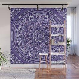Great Purple Mandala Wall Mural