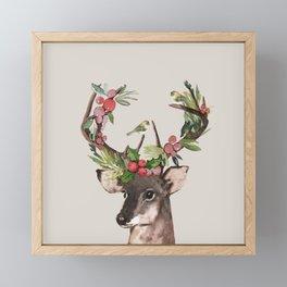 Christmas Deer Framed Mini Art Print