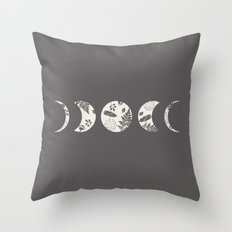 Lunar Nature Throw Pillow