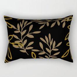 Leafy Brown Rectangular Pillow