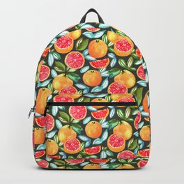 Grapefruits On Navy Backpack