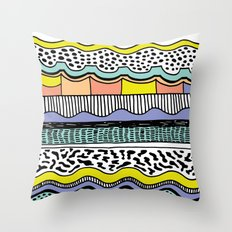 NATIVE WAVES Throw Pillow