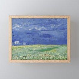 Wheatfield under Thunderclouds Framed Mini Art Print