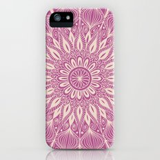 Vintage Mandala-Purply iPhone (5, 5s) Slim Case