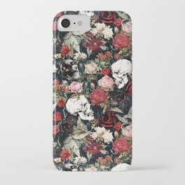 Vintage Floral With Skulls iPhone Case