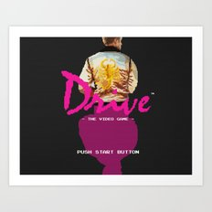 Drive Video Game Art Print