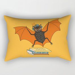 Bat granny book lover Rectangular Pillow