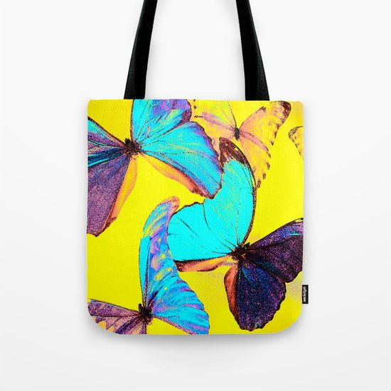 Shiny and colorful butterflies Tote Bag
