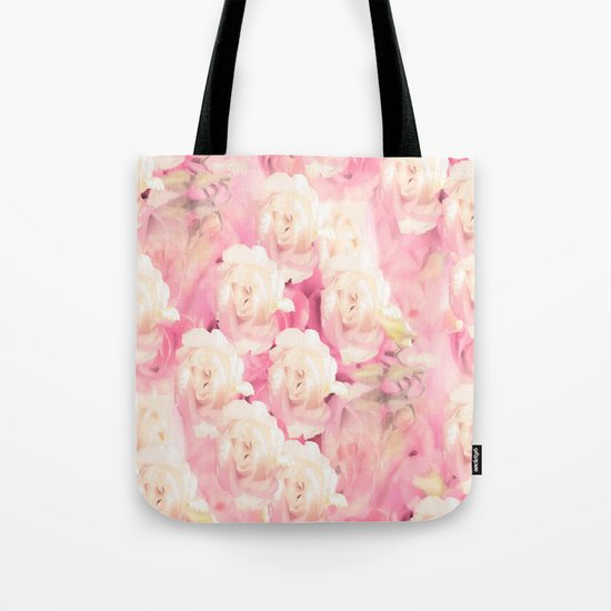 White and pink flowers in summer romance - vintage style Tote Bag