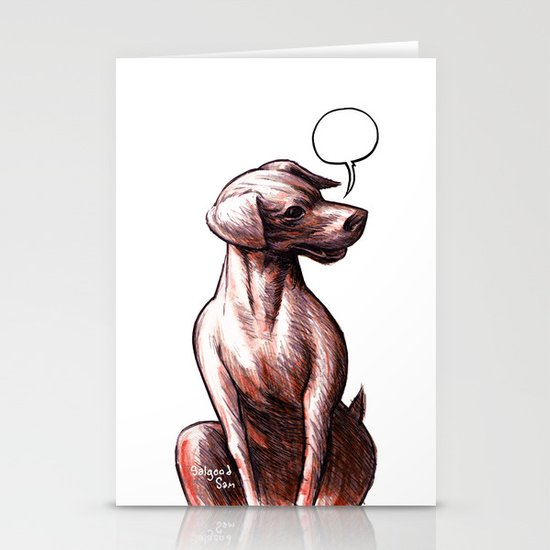 Talking Dogs Stationery Cards