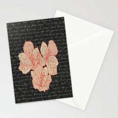 Burlap & Flowers 2 Stationery Cards
