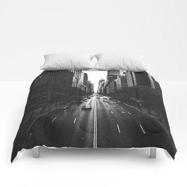 New York City (Black and White) Comforters