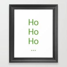 Green Ho Ho Ho Framed Art Print