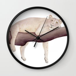 Lion Watercolor Wall Clock