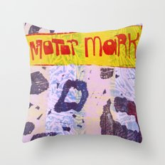 Motor Mark Throw Pillow