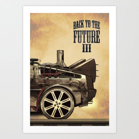 Back to the future III Art Print