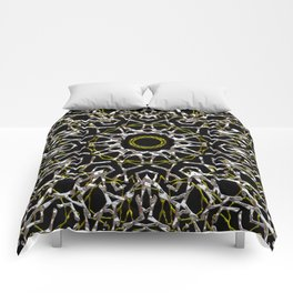 Silver and Gold Mandala Comforters