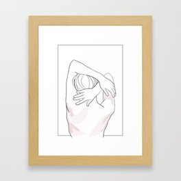 Light touch - Nude drawing figure Framed Art Print