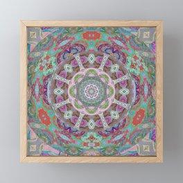 Cosmic Floral Neo Tribal Tibetan Inspired Boho Mandala Framed Mini Art Print