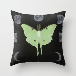Cycles of Luna Throw Pillow