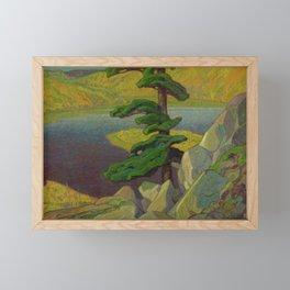 Canadian Landscape Oil Painting Franklin Carmichael Art Nouveau The Upper Ottawa near Mattawa Framed Mini Art Print