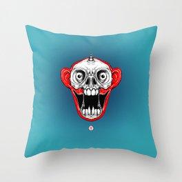 Unicorn Monkey Skull Throw Pillow