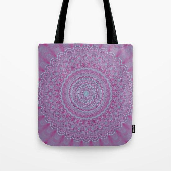 Geometric flower mandala Tote Bag