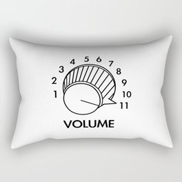 Volume Knob Up To 11 Spinal Tap Inspired Funny Guitar Rectangular Pillow