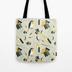 Flying Birdhouse (Pattern) Tote Bag