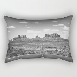 On the Open Road - Monument Valley - b/w Rectangular Pillow