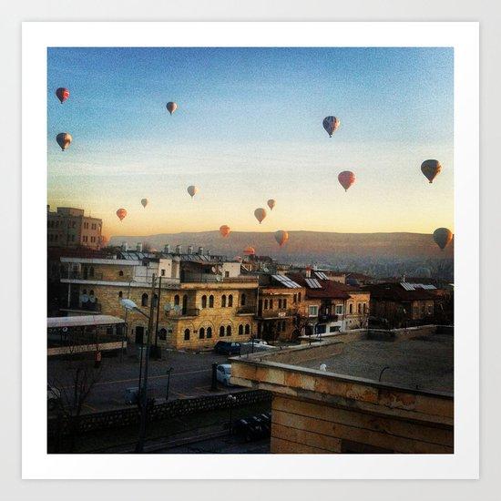 Cappadocian Hot Air Balloons 2 Art Print