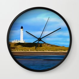 Covesea Skerries Lighthouse (painting) Wall Clock