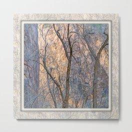 WARM WINTER WALLS OF ZION CANYON Metal Print