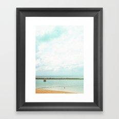 In between the seasky Framed Art Print