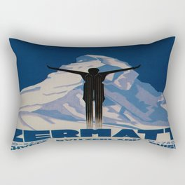 Vintage Zermatt Switzerland Travel Rectangular Pillow