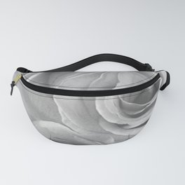 Roses in Black and White Fanny Pack