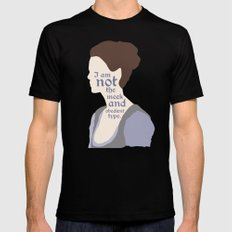 Claire Fraser Quote Black MEDIUM Mens Fitted Tee