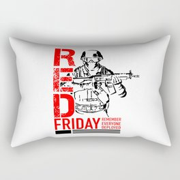 Red Friday Military 2 Rectangular Pillow