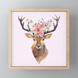 Winter Deer Framed Mini Art Print