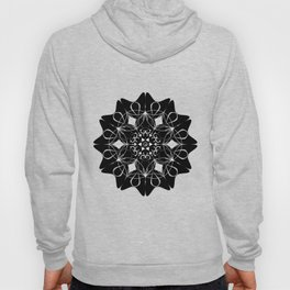 flowers mix with the flower of life mandala Hoody