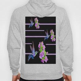 Hummingbirds-Black Hoody