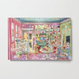 The Little Cake Shop Metal Print