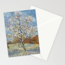 Peach Trees in Blossom by Vincent van Gogh Stationery Cards