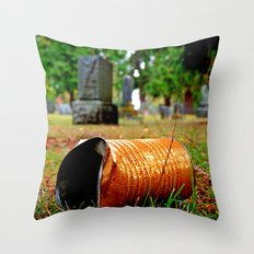 Cemetery can Throw Pillow