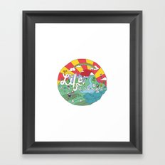 Life is All Right (Color) Framed Art Print